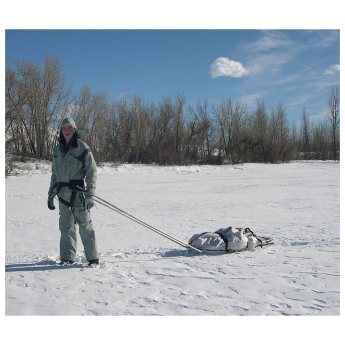 Backcountry Sleds Person Using Sled in the Middle of the Snow