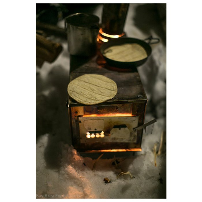 Box Stoves (Stainless Steel) Being Used to Heat Up Tortillas