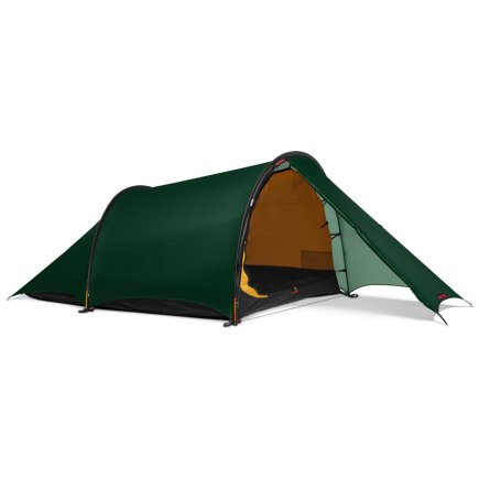Hilleberg Anjan 2 Green - With the front zipper open