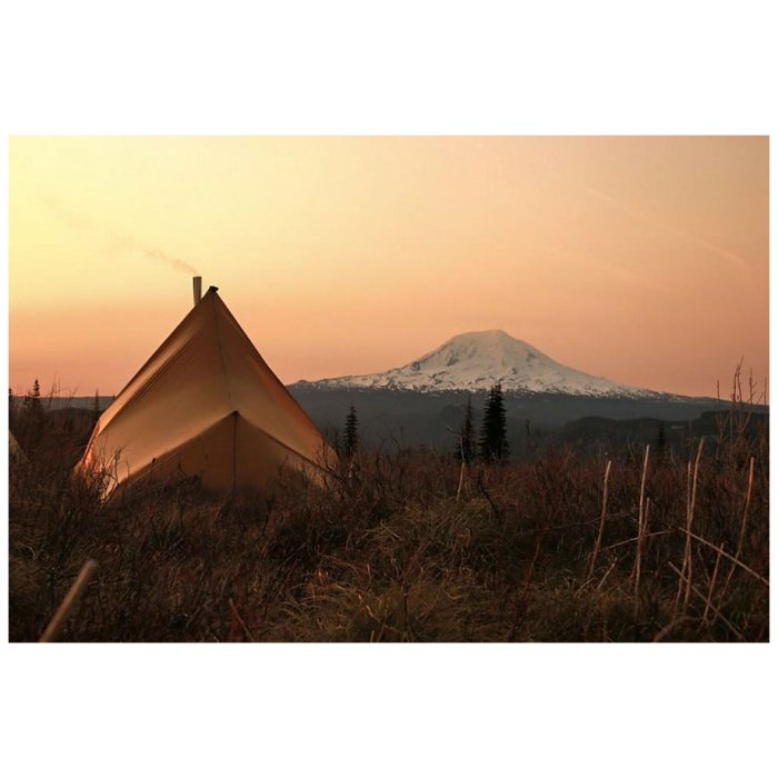 Kifaru International Sawtooth - Tent-Shelter Photo Looking at the Sunset Over the Horizon