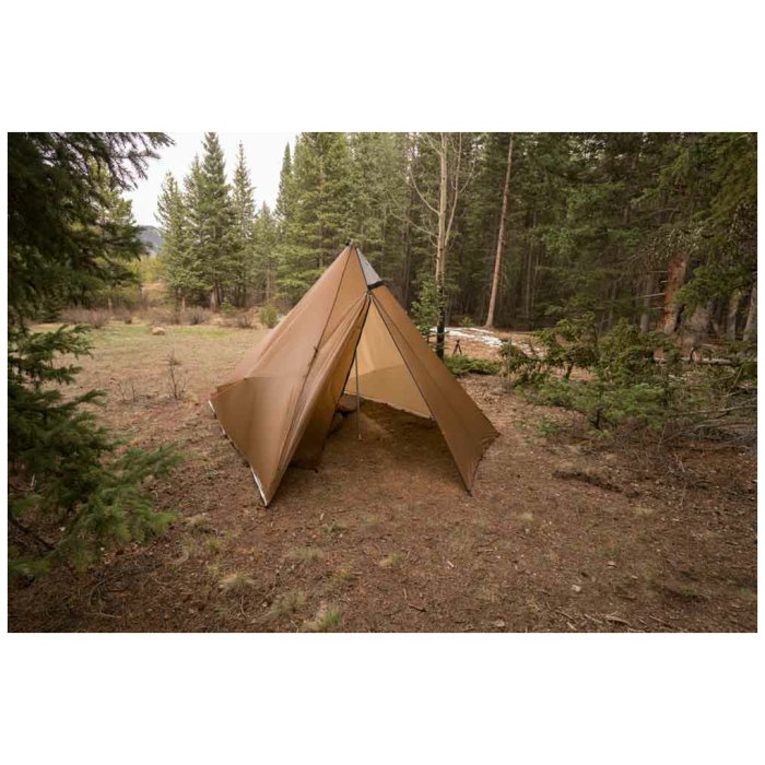 Kifaru International Sawtooth - Tent-Shelter Set Up in the Middle of the Woods