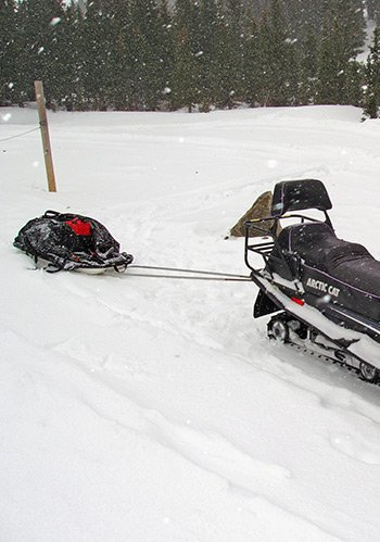 Sled Accessories Snow Mobilehitch 350 Being Used