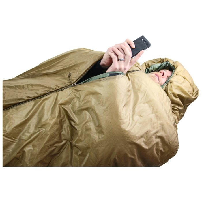 Slick Bag with Person Using Phone with Only Hands and Face Visible