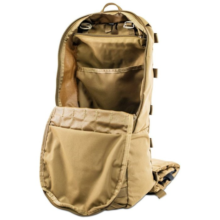 Stryker Cargo Panel (Bag only) - Coyote Brown Main Zipper Open