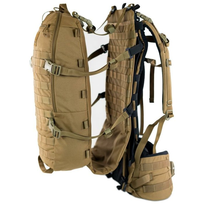 Stryker Cargo Panel (Bag only) - Coyote Brown Side View Open