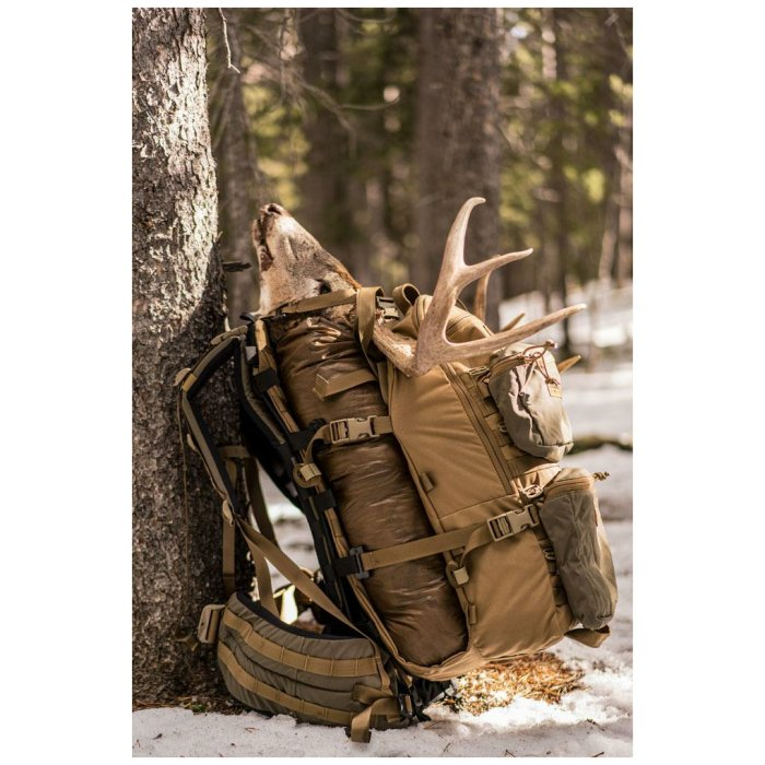 Stryker Cargo Panel (Bag only) - Coyote Brown in the Wild Side View
