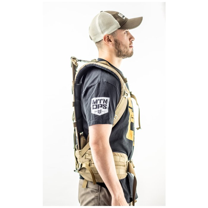 Tactical Platform Frame And Suspension (Newplex SS) Being Worn by Person with Short Strap Length