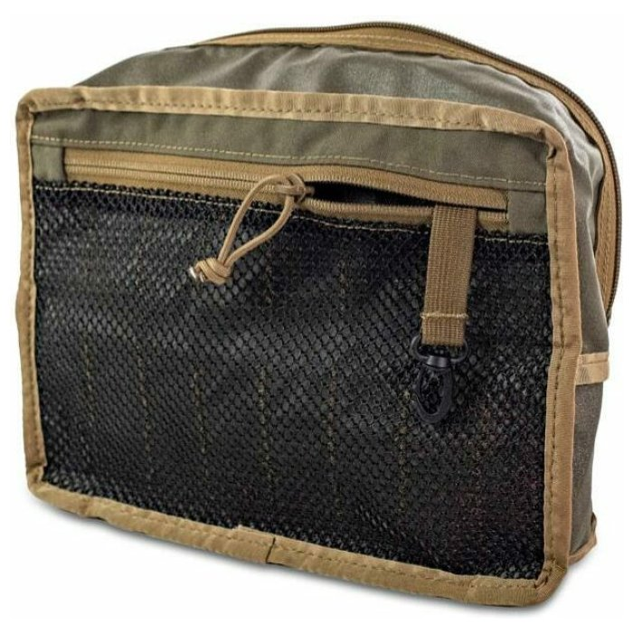 Gen 2 Claymore Side View Photo of Ranger Green Color with Netting Zipper Visible