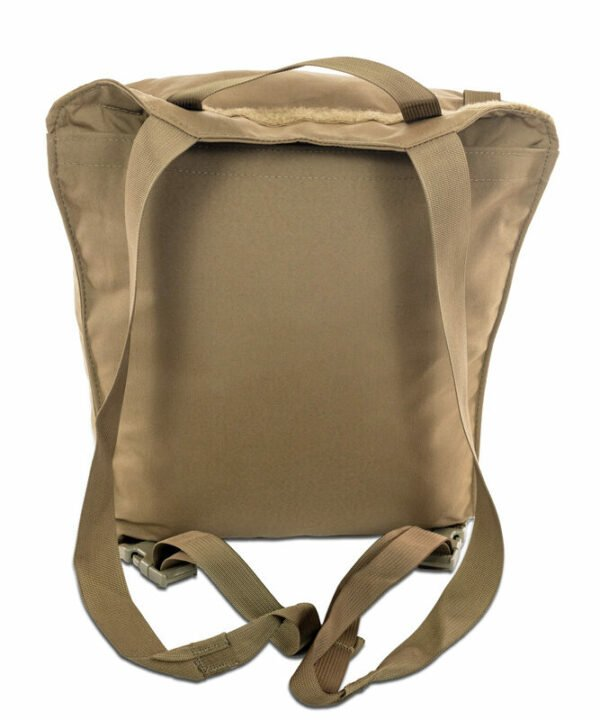 Guide Lid Back Photo of Coyote Brown Color with Straps Visible