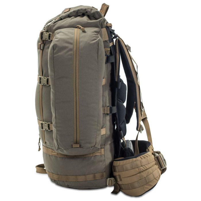 Kifaru International Fulcrum (29.5 Liters - 128 Liters Bag Only) Side View Photo Ranger Green