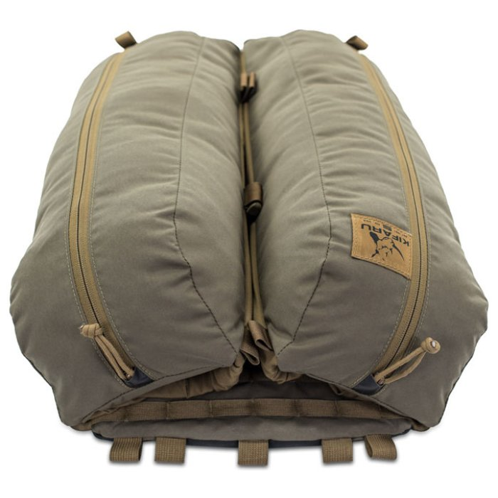 Kifaru International Nomad 2 (1,800ci - 29.5L Bag Only) Photo of Ranger Green Color Laying Down with Closed Bags
