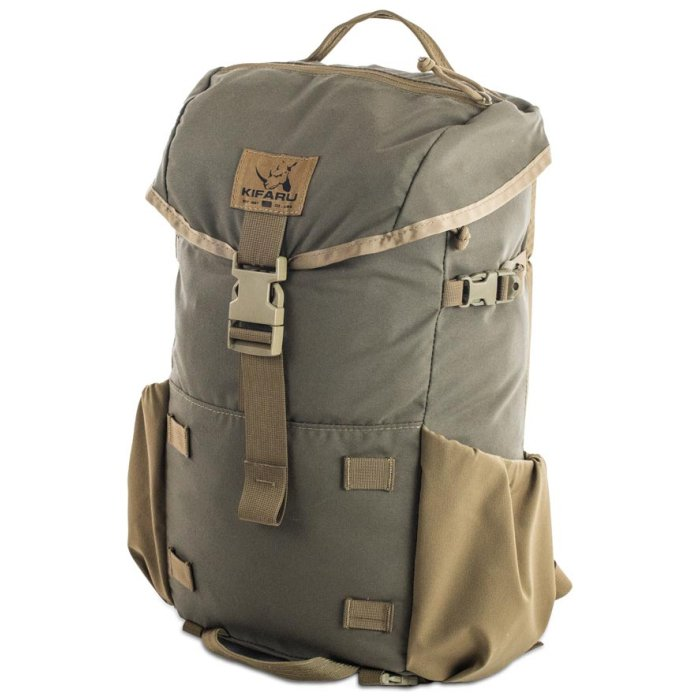 Kifaru International Urban Ruck (1,400ci - 22.9L - 1,700ci - 27.8L) Diagonal Photo of Ranger Green Color Pack with Top Strapped