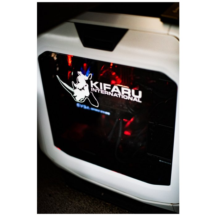 Kifaru Logo Vinyl Decal Being Used on Hardware