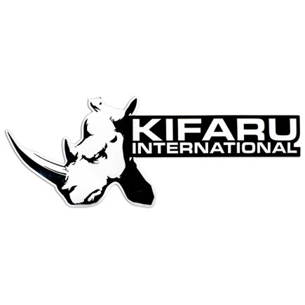 Kifaru Logo Vinyl Decal Close Up