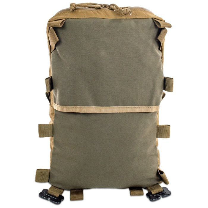 Sherman Pocket Xpac Back Photo of Coyote Brown Color with Green Back