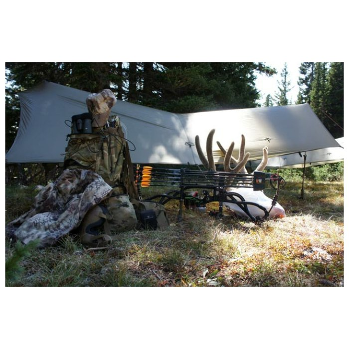 SuperTarp side photo with with skeleton and multicam pack visible