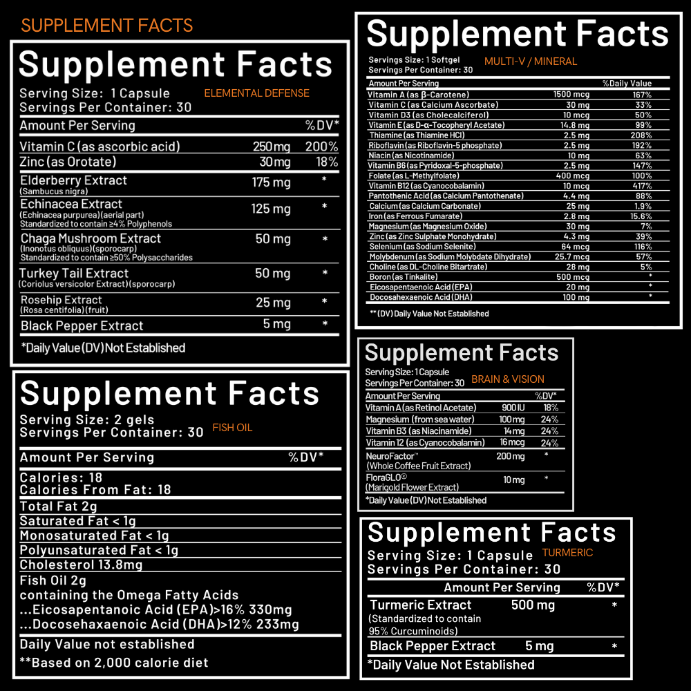 Revival Supplement Facts